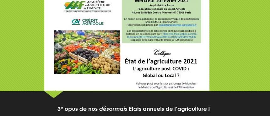 """[Evènement partenaire] """"L'agriculture post-COVID : global ou local ?"""""""