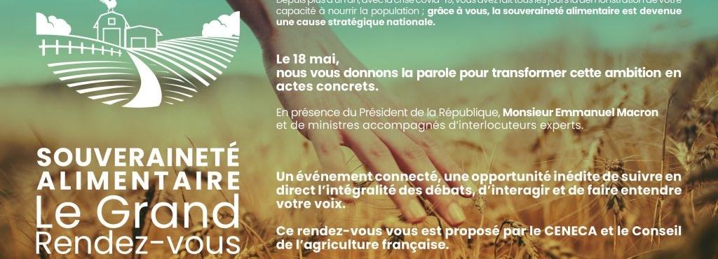 [En direct de nos adhérents] Le grand Rendez-vous de la Souveraineté Alimentaire du 18 mai 2021