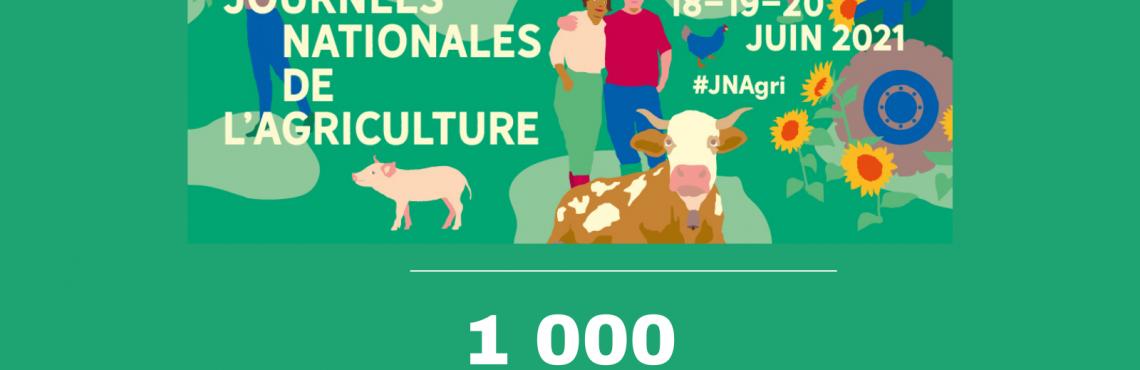 Plus de 1000 événements inscrits pour les Journées Nationales de l'Agriculture